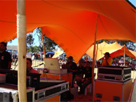 Burnt Orange Tent